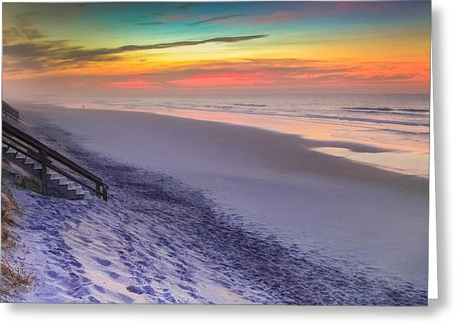 Walk On The Beach Greeting Cards - THE BEAUTY of TOPSAIL ISLAND Greeting Card by Karen Wiles