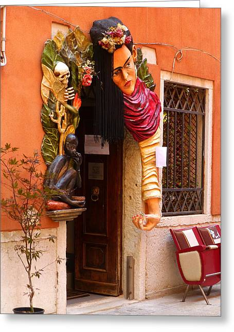 Venetian Door Greeting Cards - The Beauty Salon Greeting Card by Connie Handscomb