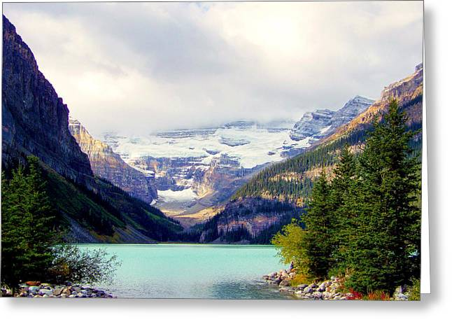 Lake Louise Photography Greeting Cards - The Beauty Within Greeting Card by Karen Wiles