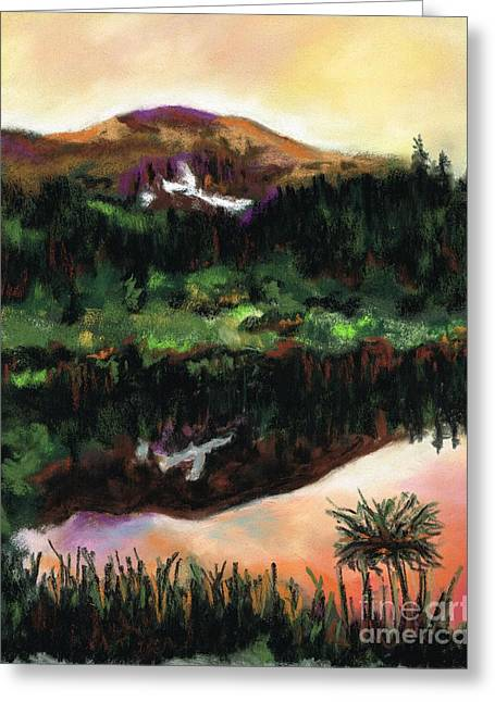 Meadow Pastels Greeting Cards - The Beaver Ponds Greeting Card by Frances Marino