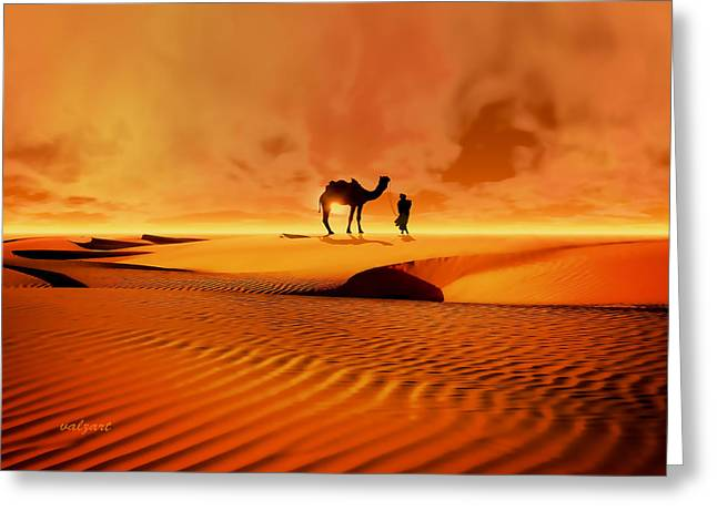 The Bedouin Greeting Card by Valerie Anne Kelly
