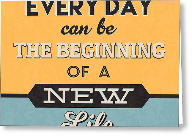 The Beginning Of A New Life Greeting Card by Naxart Studio