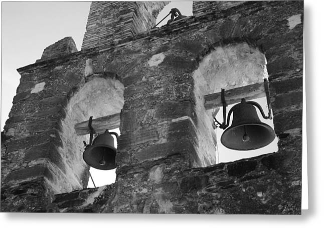 Old San Juan Greeting Cards - The Bell Tower at Mission Espada Greeting Card by Paul Huchton