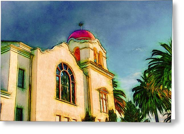 Sonoma County Digital Greeting Cards - The Bell Tower Greeting Card by John K Woodruff