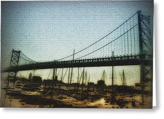 Ben Franklin Bridge Greeting Cards - The Ben Franklin Bridge Greeting Card by Bill Cannon
