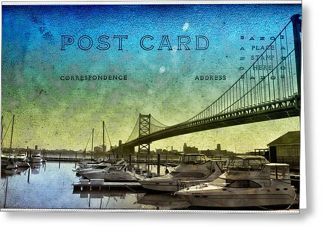 Ben Franklin Bridge Greeting Cards - The Ben Franklin Bridge Post Card Greeting Card by Bill Cannon