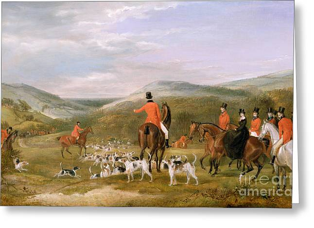 Rural Greeting Cards - The Berkeley Hunt Greeting Card by Francis Calcraft Turner