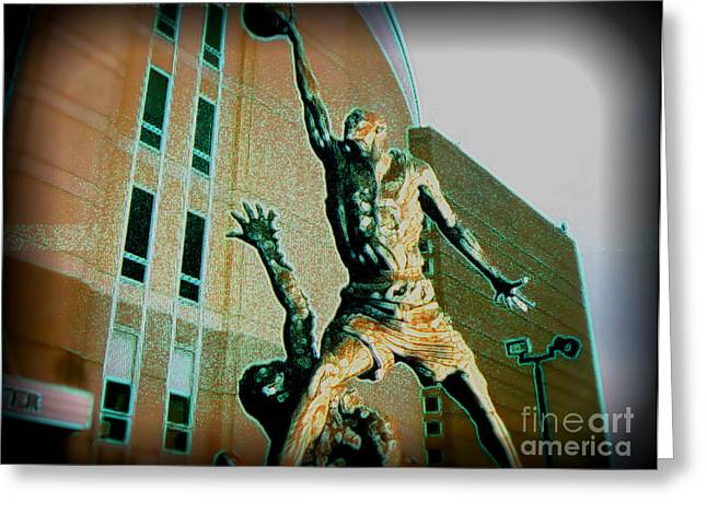 Michael Jordan Greeting Cards - The Best Greeting Card by Brandon Ramquist