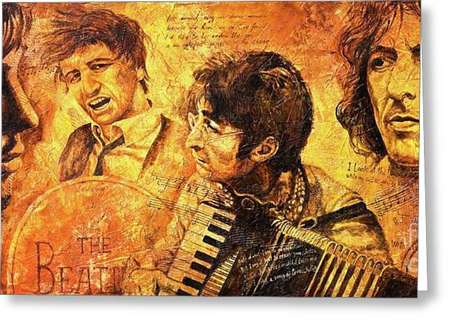 Beatles Paintings Greeting Cards - The Best Forever Greeting Card by Igor Postash