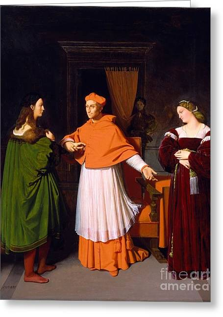 The Betrothal Of Raphael And The Niece Greeting Card by Jean