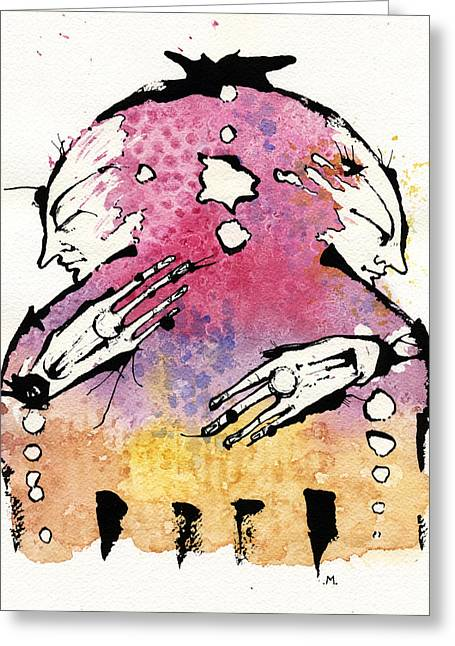 Best Sellers -  - Psychiatric Greeting Cards - The Bi-polar Greeting Card by Mark M  Mellon