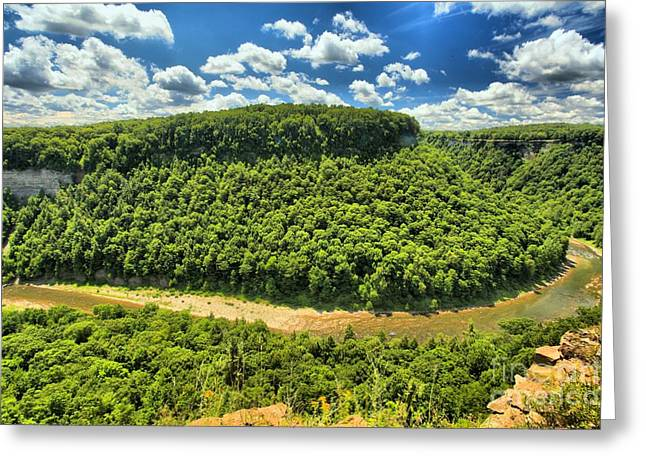 New York State Parks Greeting Cards - The Big Bend Greeting Card by Adam Jewell
