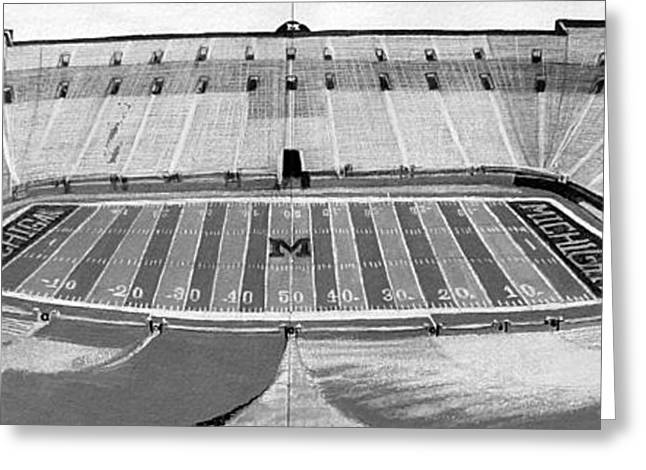 Endzone Greeting Cards - The Big House Greeting Card by Justin Keener
