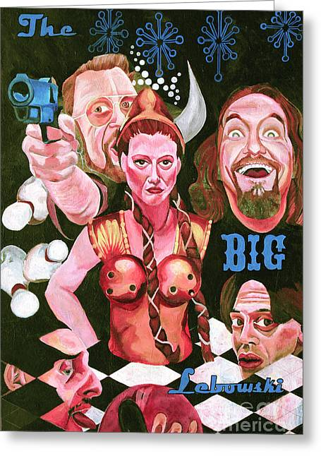 John Goodman Greeting Cards - The Big Lebowski Greeting Card by Cory Rootes