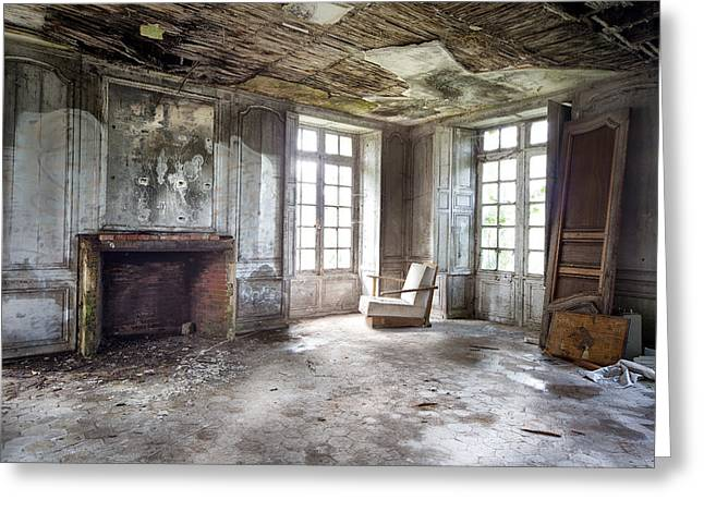 The Big Room - Abandoned Castle Greeting Card by Dirk Ercken
