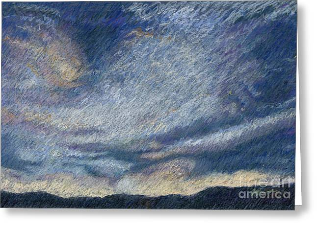Storm Pastels Greeting Cards - The Big Storm Greeting Card by Suzie Majikol-Maier