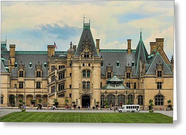 Chateau Greeting Cards - The Biltmore House Greeting Card by Stephen Stookey