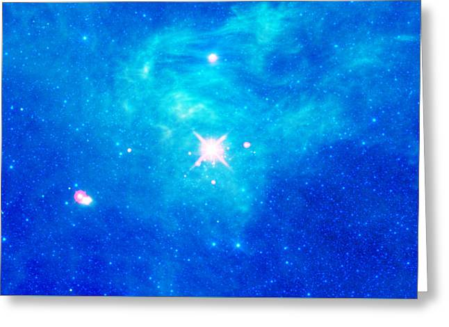 The Birth Of Stars In The Constellation Camelopardalis Greeting Card by American School