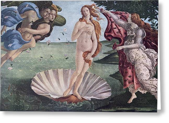Goddess Birth Art Greeting Cards - The Birth Of Venus By Sandro Greeting Card by Ken Welsh