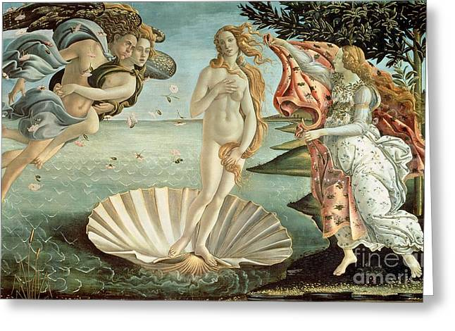 Personification Greeting Cards - The Birth of Venus Greeting Card by Sandro Botticelli