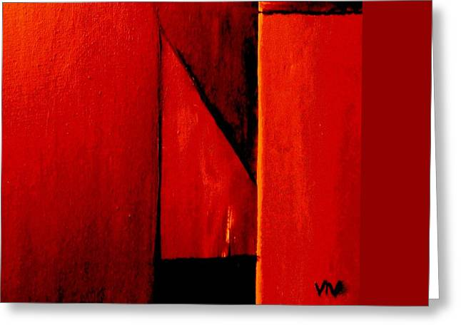 Red Abstracts Greeting Cards - The Bishops Mitre Greeting Card by VIVA Anderson