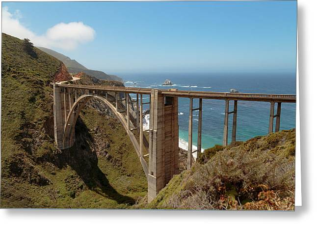 Big Sur Ca Greeting Cards - The Bixby Bridge Greeting Card by Susan Rissi Tregoning