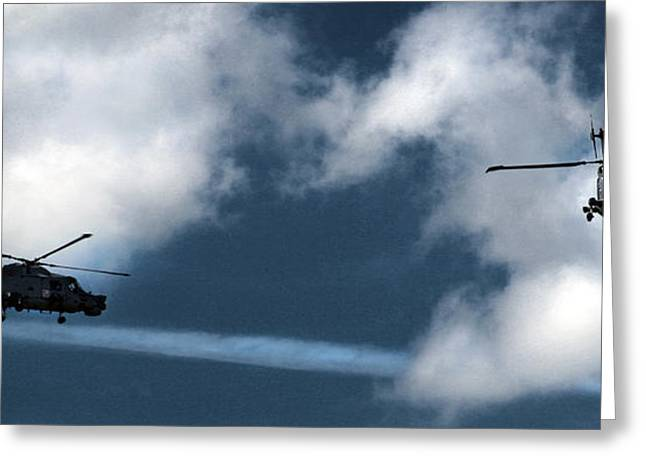 Aerobatic Greeting Cards - the Black Cats air display Greeting Card by Angel  Tarantella