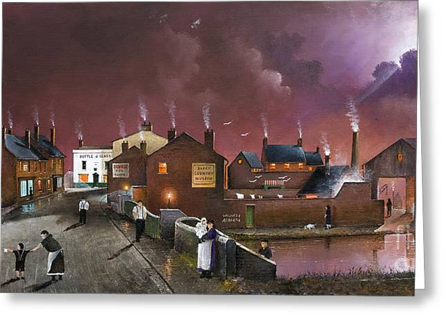 Recently Sold -  - Old Street Greeting Cards - The Black Country Museum Greeting Card by Ken Wood