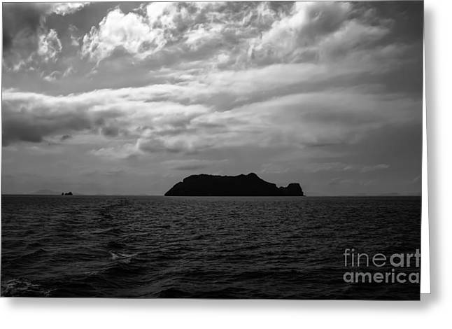 Michelle Greeting Cards - The Black Island Greeting Card by Michelle Meenawong