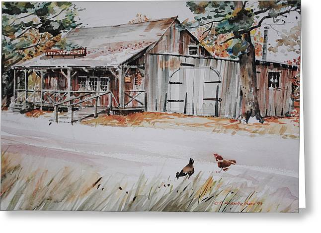 Shed Paintings Greeting Cards - The Blacksmith Shoppe Greeting Card by P Anthony Visco