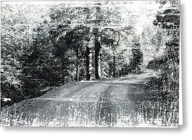 Old Roadway Greeting Cards - The Bleached Dirt Road Greeting Card by Beauty For God