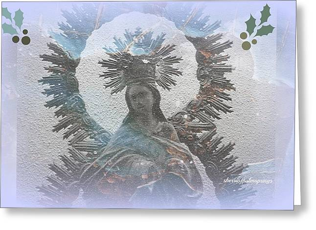 Digital Art Greeting Cards - The Blessed Mother Greeting Card by Sherri  Of Palm Springs