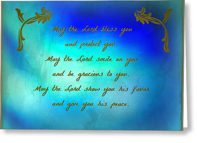 The Blessing Greeting Card by Kathy Bucari