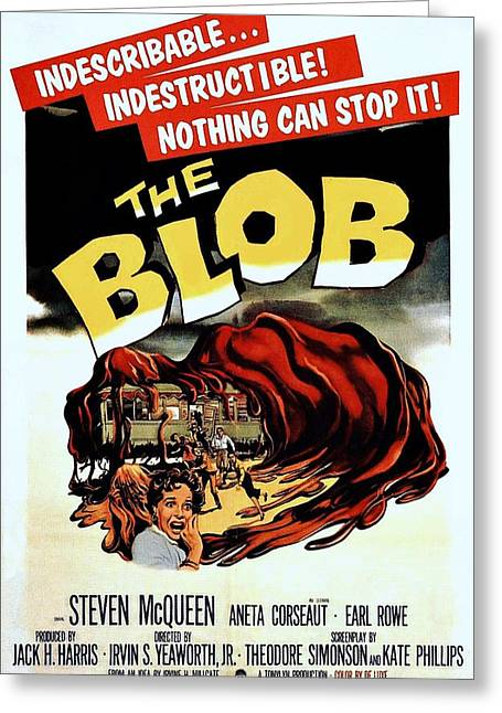 Horror Film Greeting Cards - The Blob  Greeting Card by Movie Poster Prints