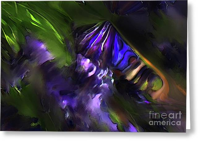 Transformative Art Greeting Cards - The Blooming Greeting Card by Lisa Redfern