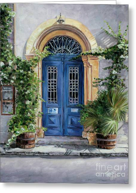 Recently Sold -  - Popular Art Greeting Cards - The Blue Door Greeting Card by Theo Michael