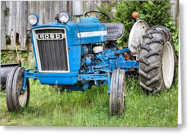 Fauquier County Greeting Cards - The Blue Ford Greeting Card by JC Findley