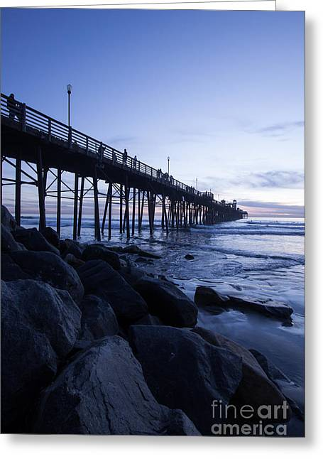 California Ocean Photography Greeting Cards - The Blue Hour Greeting Card by Ana V  Ramirez