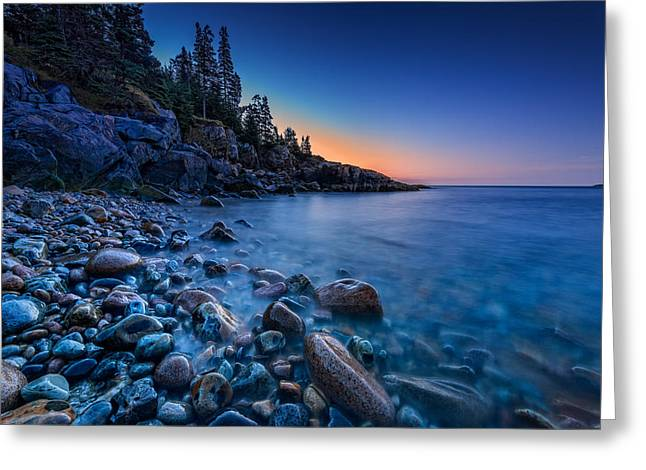The Blue Hour On Little Hunter's Beach Greeting Card by Rick Berk