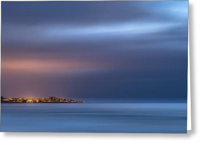 Haze Photographs Greeting Cards - The Blue Jewel - La Jolla Greeting Card by Peter Tellone