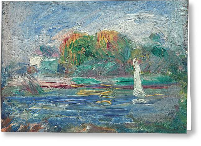 Wow Paintings Greeting Cards - The Blue River Greeting Card by Auguste Renoir