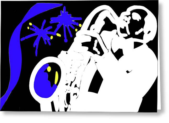 Okotoks Greeting Cards - The Blues Greeting Card by Al Bourassa