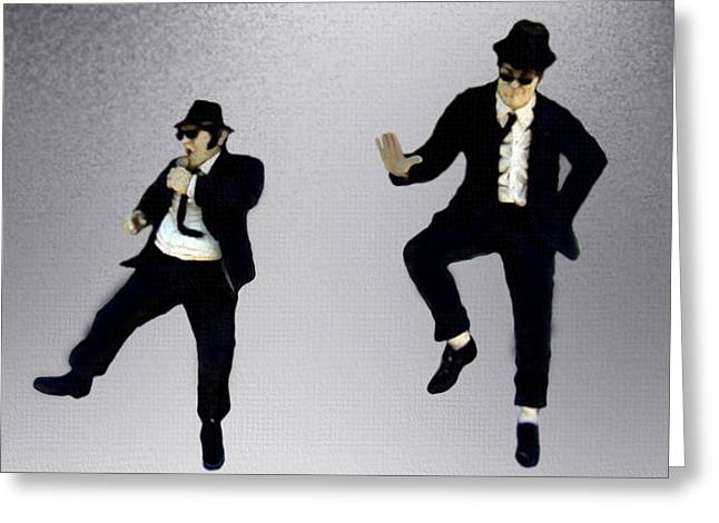Movie Art Greeting Cards - The Blues Brothers Greeting Card by Jeff DOttavio