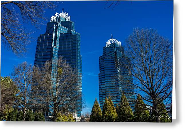 The Blues King And Queen Buildings Concourse Greeting Card by Reid Callaway