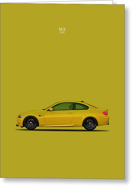 Electric Car Greeting Cards - The BMW M3 E92 Greeting Card by Mark Rogan