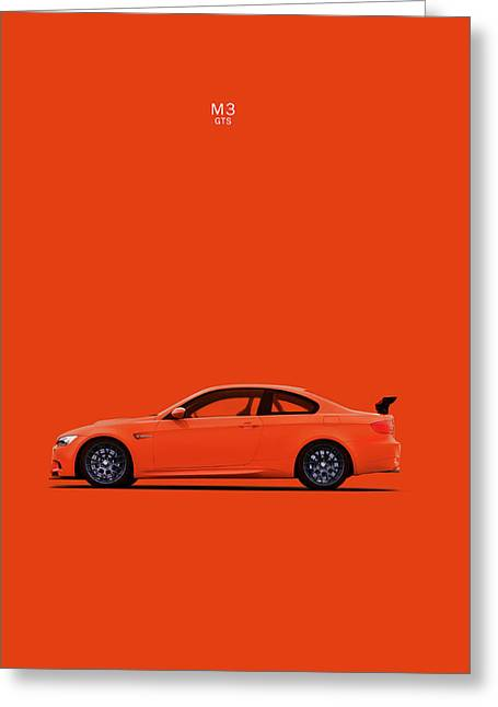 Electric Car Greeting Cards - The BMW M3 GTS Greeting Card by Mark Rogan