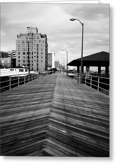 The Jersey Shore Greeting Cards - The Boardwalk Greeting Card by Linda Sannuti