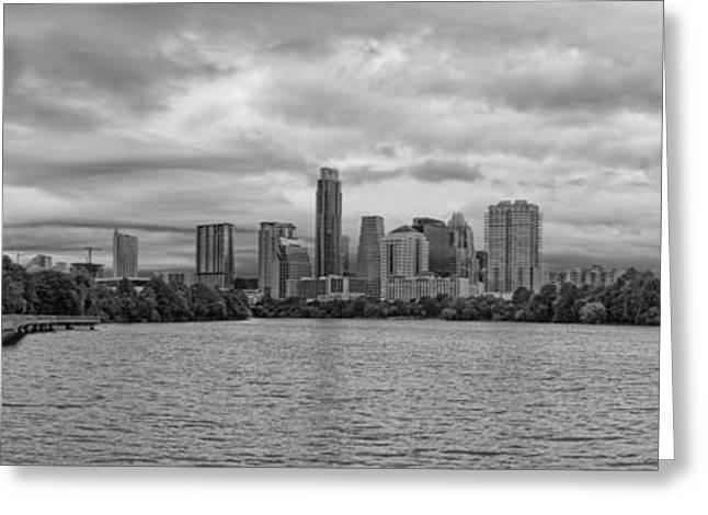 The Boardwalk Trail At Lady Bird Lake - City Of Austin Skyline - Texas Hill Country Greeting Card by Silvio Ligutti