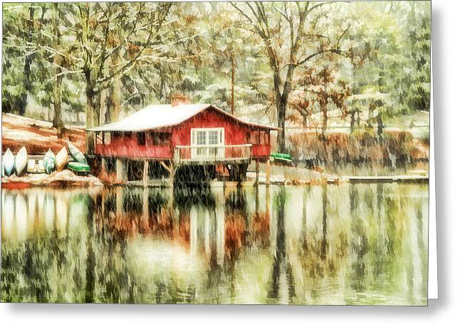 Canoe Photographs Greeting Cards - The Boat House Greeting Card by Darren Fisher