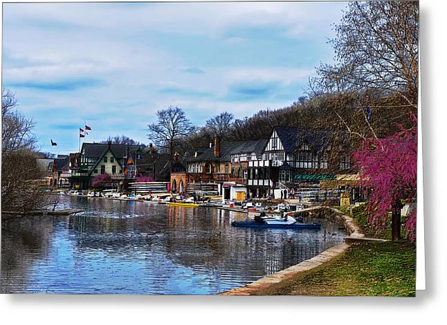 Philadelphia Digital Art Greeting Cards - The Boat House Row Greeting Card by Bill Cannon